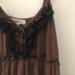 Super Soft Kensie Dress brown XS